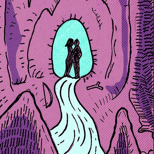 The Cave of Fantasies art drawing tarot illustration sketch film