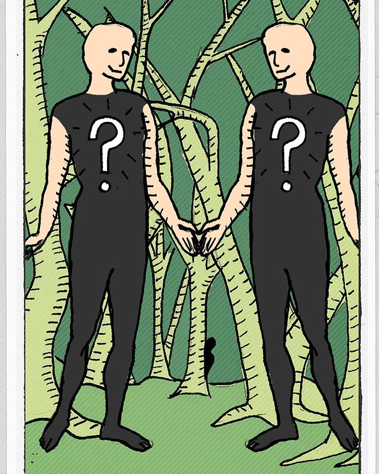 The Forest of Question and Answers art drawing tarot illustrationhellip